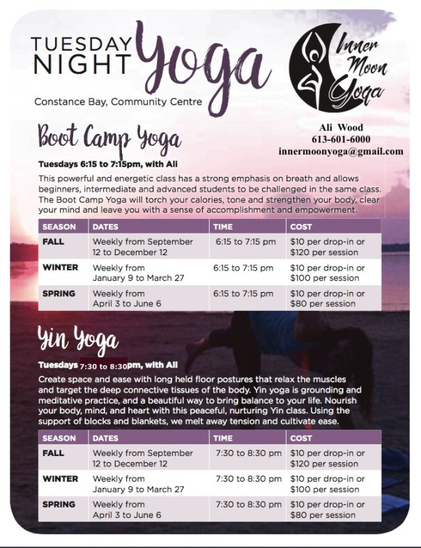 Boot Camp Yoga with Ali @ the Multi Purpose room | Ottawa | Ontario | Canada