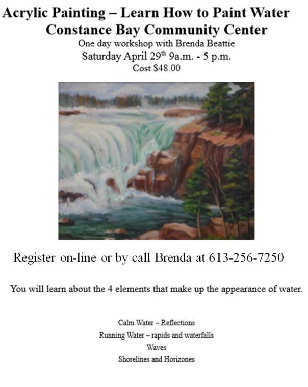 Acrylic Painting Workshop with Brenda Beattie @ the Studio Room | Ottawa | Ontario | Canada